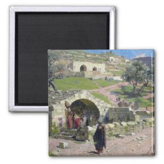 The Virgin Spring in Nazareth, 1882 Magnet