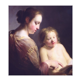 The Virgin Teaching the Infant Christ to Read Canvas Print