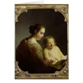 The Virgin Teaching the Infant Christ to Read Card