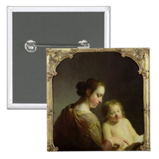 The Virgin Teaching the Infant Christ to Read Pinback Button