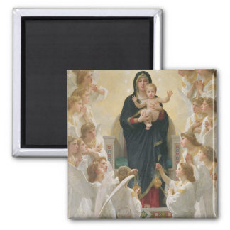 The Virgin with Angels, 1900 2 Inch Square Magnet