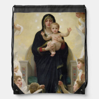 The Virgin with Angels, 1900 Drawstring Bag