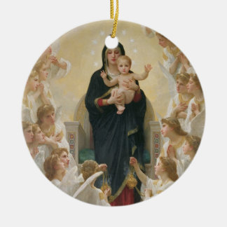 The Virgin with Angels, 1900 Christmas Ornament