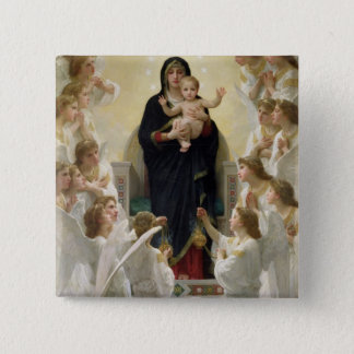 The Virgin with Angels, 1900 Pinback Button