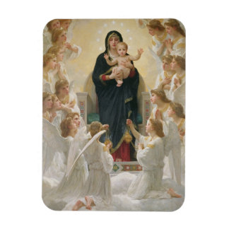 The Virgin with Angels 1900 Rectangle Magnet