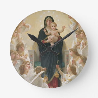 The Virgin with Angels, 1900 Round Clock