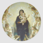The Virgin With Angels Classic Round Sticker
