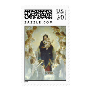 The Virgin With Angels Postage at Zazzle