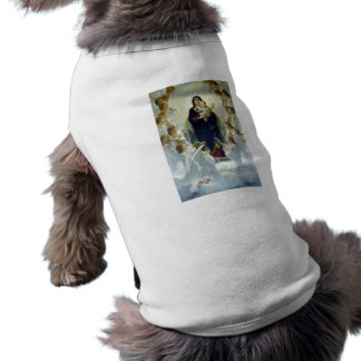 The Virgin With Angels, William Bouguereau Doggie T Shirt