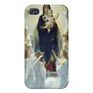 The Virgin With Angels, William Bouguereau iPhone 4 Covers