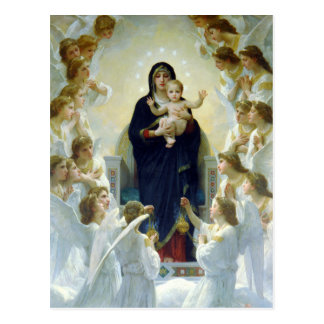 The Virgin With Angels, William Bouguereau Postcards