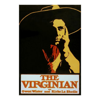 The Virginian ~ Vintage Theatre Advertising Poster