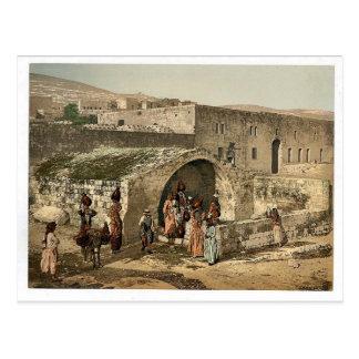 The virgin's fountain, Nazareth, Holy Land, (i.e. Postcard