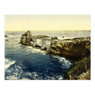 The Virgin's Rock, Biarritz, Pyrenees, France clas Post Card