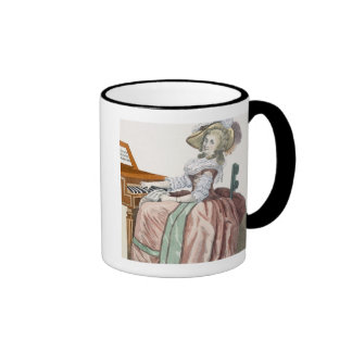 The Virtuosa in a Dress 'a l'Anglaise' with a Marl Ringer Mug