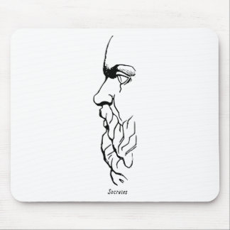 The Visage of Socrates Mouse Pad