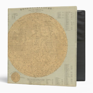 The visible side of the moon surface map 3 ring binder