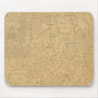 The visible side of the moon surface map mouse pad