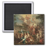 The Vision of Aeneas in the Elysian Fields 2 Inch Square Magnet