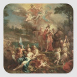 The Vision of Aeneas in the Elysian Fields Square Sticker