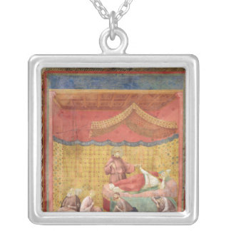 The Vision of Pope Gregory IX  1297-99 Silver Plated Necklace