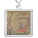 The Vision of Pope Innocent III, c.1295-1300 Square Pendant Necklace