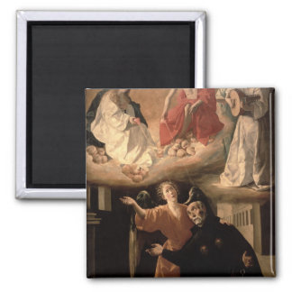 The Vision of St. Alphonsus Rodriguez 2 Inch Square Magnet