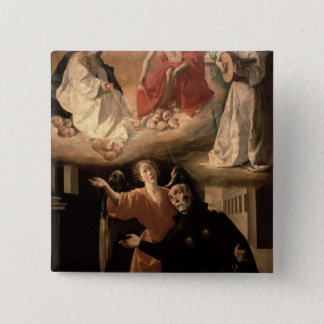 The Vision of St. Alphonsus Rodriguez Button