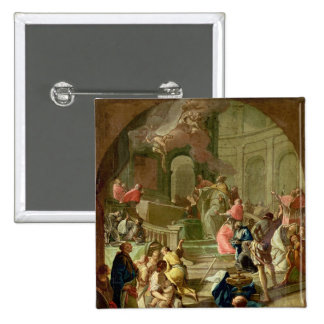 The Vision of St. Benedict, c.1760 Pinback Button