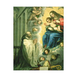The Vision of St. Bernard, 1634 Gallery Wrap Canvas