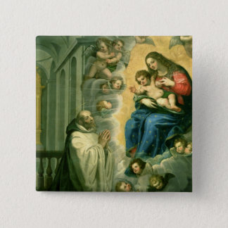 The Vision of St. Bernard, 1634 Pinback Button