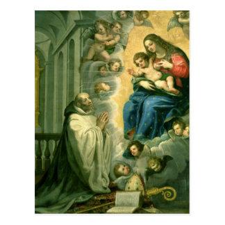 The Vision of St. Bernard, 1634 Postcard