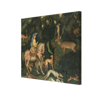 The Vision of St. Eustachius, c.1438-42 Canvas Print