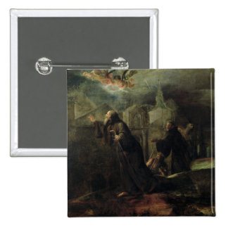 The Vision of St. Francis of Paola Pinback Button