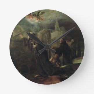 The Vision of St. Francis of Paola Round Clock