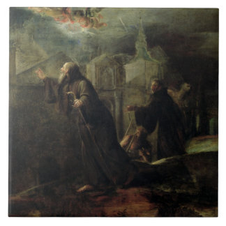 The Vision of St. Francis of Paola Tile