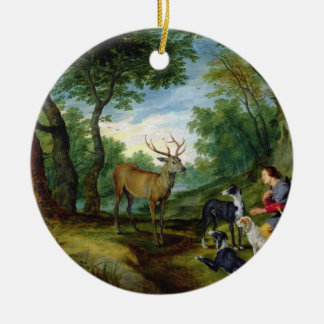 The Vision of St. Hubert, c.1620 (oil on panel) Ceramic Ornament