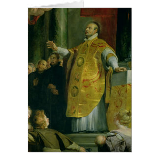The Vision of St. Ignatius of Loyola Greeting Card