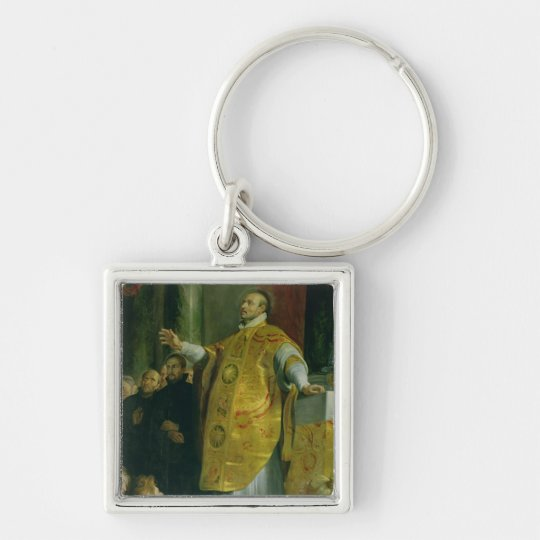 The Vision of St. Ignatius of Loyola Keychain