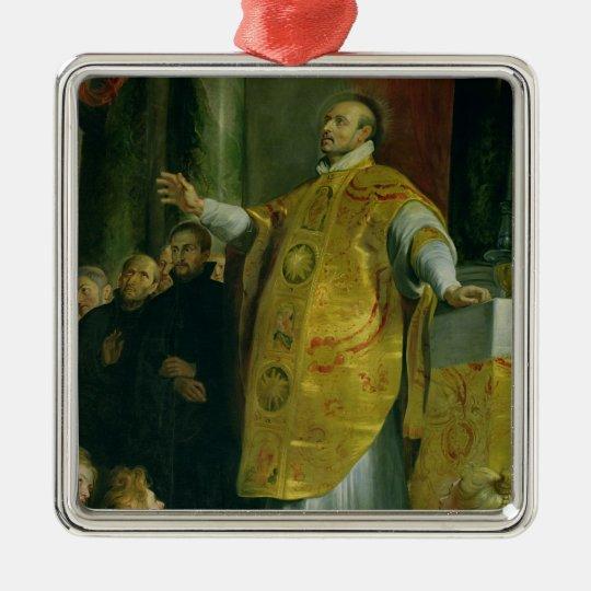 The Vision of St. Ignatius of Loyola Metal Ornament