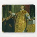 The Vision of St. Ignatius of Loyola Mousepad