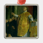 The Vision of St. Ignatius of Loyola Christmas Ornaments