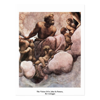 The Vision Of St. John In Patmos,  By Correggio Postcard