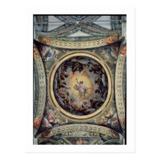 The Vision of St. John on Patmos, 1520-23 (fresco) Postcard