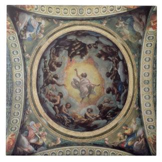 The Vision of St. John on Patmos, 1520-23 (fresco) Tile