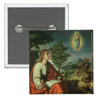 The Vision of St. John the Evangelist on Patmos 2 Inch Square Button