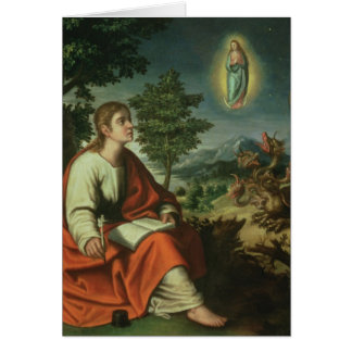 The Vision of St. John the Evangelist on Patmos Greeting Card