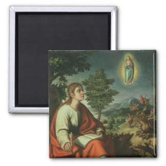 The Vision of St. John the Evangelist on Patmos Magnet