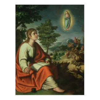 The Vision of St. John the Evangelist on Patmos Postcard