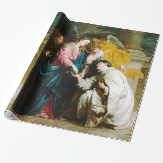 The Vision of the Blessed Hermann Joseph (1630) Wrapping Paper